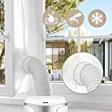 2019 ACTUALIZACIÓN Gimars Sello de ventana, Aislamiento de ventanas para aire acondicionado portátiles, secadores móviles, manguera de escape y Aire caliente, Instalación fácil Sin agujeros, 300 cm