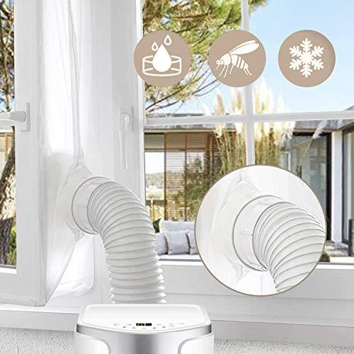 2020 UPGRADE Gimars 300cm Guarnizione Universale da Finestre per Climatizzatori Mobili e Asciugatrici Adatta a Condizionatori Portatile Installazione Facile Senza Buchi Blocca L'aria Calda, Bianco