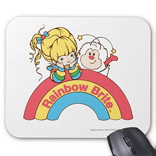 Muismat, Gaming-muismat groot formaat 300x250x3mm Dikke Regenboog Brite & Twink met Logo Verlengde muismat Antislip rubber