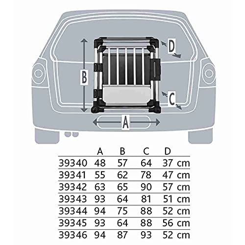 Trixie 39345 Transportbox, doppelt,...