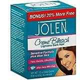 Jolen 1 Ounce Creme Bleach Mild Plus Aloe Vera (29ml) (2 Pack)
