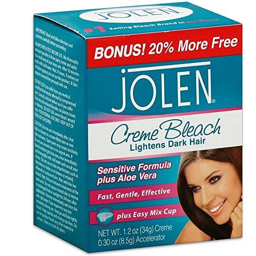 Jolen Creme Bleach Sensitive Formula Plus Aloe Vera 1.2 oz ( Pack of 8)