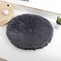 JF-XUAN ドッグフード ペット猫の犬の巣のデュアルの使用ペット滑り止め通気性猫の家犬眠っている洗えるマットの毛布 (Color : Style2 Navy Gray, Size : L)