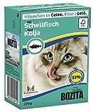 Bozita Häppchen in Gelee Nassfutter mit Schellfisch im Tetra Recart 16x370g - Getreidefrei - nachhaltig produziertes Katzenfutter für erwachsene Katzen - Alleinfuttermittel