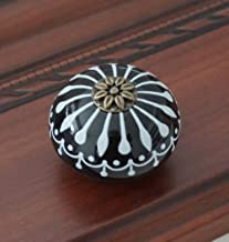 keramische knop/dressoir knoppen wit blauw kabinet trekt knoppen/unieke keuken deurkruk knop meubels hardware dressoir kno...