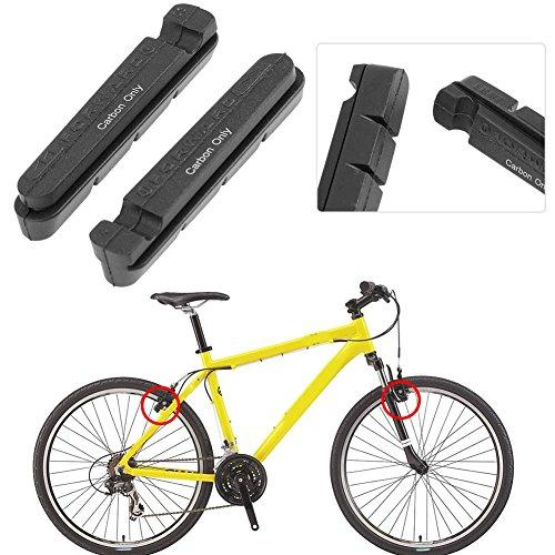 ,a 1Pair Bicycle Road Bike Rubber C/V Brake Pads Carbon Rim Brake Blocks Shoes
