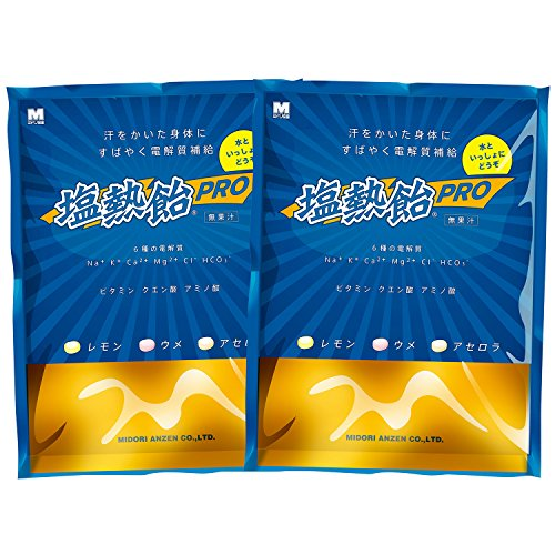 ミドリ安全 【水分と電解質の補給】 塩熱飴PRO 1kg 2袋セット