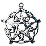 Brisingamen Pentagramm Anhänger Größe: ca. 3,2 x 5,0cm aus nickel- und bleifreiem Hartzinn (Pewter) Der Anhänger, ist mit einer Beschreibung und mit einer Halskette ausgestattet und wird in einem Schmuckkästchen präsentiert Schönheit und Charme