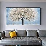 UIOLK Luz Abstracta sueño árbol de Plata Arte de la Pared Pintura Arte de la Pared para la decoración del hogar de la Sala de Estar