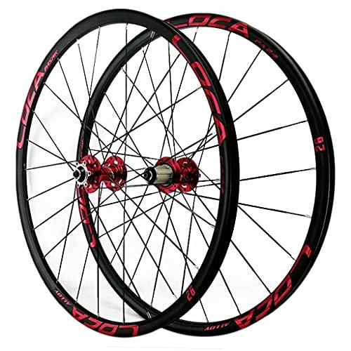 ZCXBHD Bicicleta de montaña MTB Wheelset 26/27.5/29 Pulgadas de aleación de la aleación del Disco de la Bicicleta del Freno de la Bicicleta y la Rueda Trasera Llantas de aleación 8 9 10 11 12 veloci