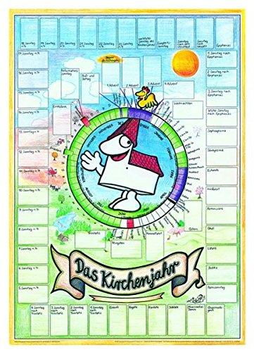 Das Kirchenjahr: Einzelposter mit Aufklebern. Reliposter