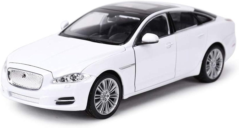 LIUFS Die Casting Model Jaguar XF XJ Alloy Car Model Car Model Boys Gift Toy Car 1 24 Collectibles (color   White)