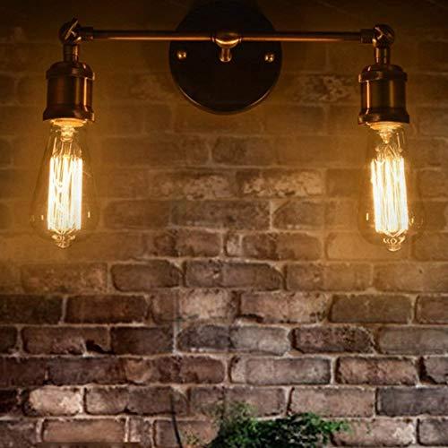 LWX Lámpara de pared Lámpara de pared Retro Vintage Diseño industrial Lámpara de pared Iluminación Metal creativo Cabeza ajustable Decoración de interiores Lámpara de techo Iluminación Lámpara de pare