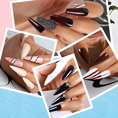 Poly Gel Nail Kit Pink Clear Nail...