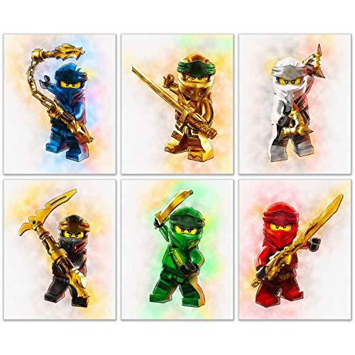 Ninjago Prints - Set of 6 (8 inches x 10 inches) Lego Ninja Photos