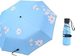 Umbrella Windproof Umbrella Folding Sun Sunshade Sun Protection Ultraviolet Light Ultra Light Portable Dual Purpose (Color : A 1)