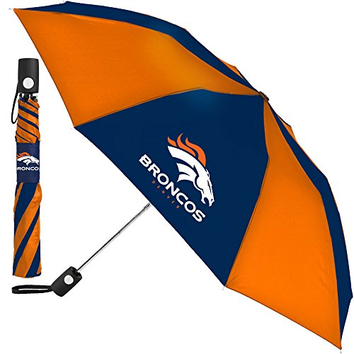 Best Prices! Denver Broncos NFL 42 Inch AUTOMATIC FOLDING UMBRELLA