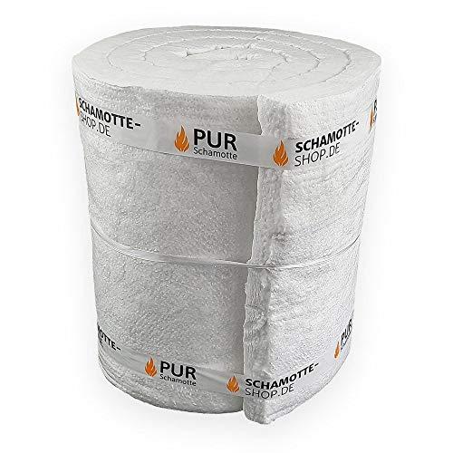 PUR Schamotte Keramikfaser Hochtemperatur Isolierung Kamin Ofen 1650 x 610 x 25 mm I 1 m2 I 1260°C I 128 KG/m3 I Feuerfest Keramikfasermatte