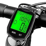 Velocímetro Bicicleta, DINOKA 23 functions Inalámbrico Cuentakilómetros para Bicicleta de Montaña Impermeable, 5 idiomas intercambiables para ciclismo Realtime Speed Track y distancia
