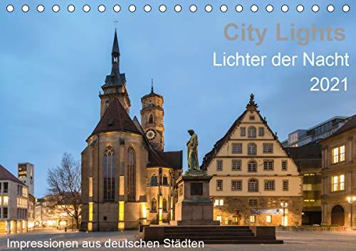 City Lights - Lichter der Nacht (Tischkalender 2021 DIN A5 quer)