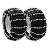OakTen Set of Two Tire Chain Fits 5.3x12, 10x6x6, 12x7x4, 12.5x4.50x6, 13x4.1, 13x4.00x5, 13x4x6, 13x5.00x6,...