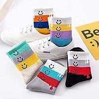 子供の綿の靴下秋と冬の新しい10ペア Rebirtha (Color : 5色混包, Size : 4-6岁)