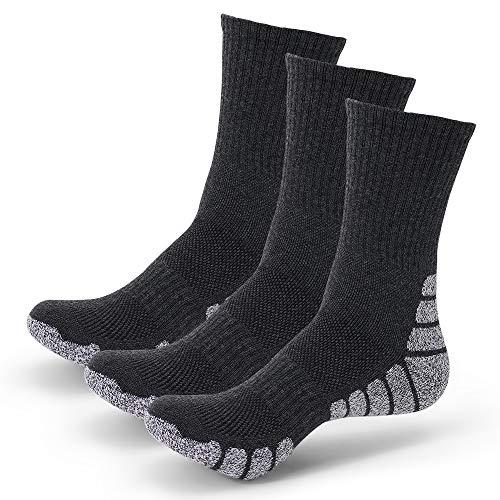 3 Pares Calcetines Running Para Hombre Mujer - Deporte Calcetines Cortos de Algodón Con Amortiguación Respirable Running Ciclismo (3 Pares Gris, EU 43-47)