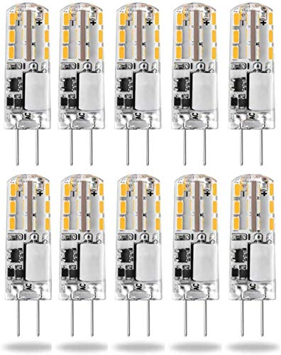 Bombillas LED G4 de 12 V, 3000 K, CA/CC, 1,5 W/20 W, bombillas halógenas G4 de 2 pines, de bajo consumo, no regulable, 10 unidades