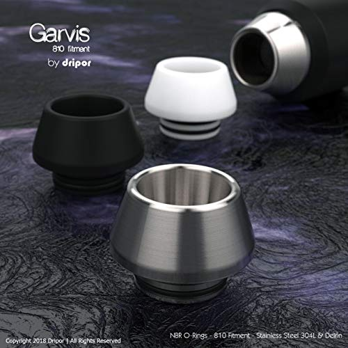 Garvis Delrin (POM) Drip Tip 810 Smok Anschluss für TFV8 & TFV12 Mundstück Derlin (Stainless Steel 304L)