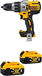 DEWALT DCD996B Bare Tool 20V MAX XR Lithium Ion Brushless 3-Speed Hammer Drill and 20V MAX XR 5.0Ah Lithium Ion Battery, ...