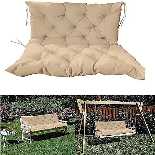Mercb, cuscino per panca da esterni, cuscino da giardino a 2 o 3 posti, impermeabile, antiscivolo, tappetino di ricambio per patio e altalena per interni, divano letto