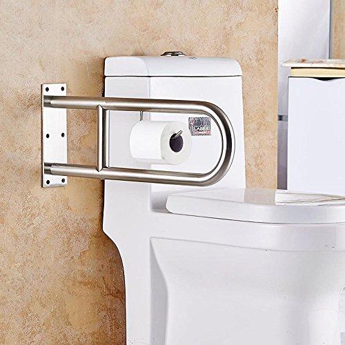 SDKKY Acier Inoxydable 304 en Forme de U WC Accoudoir Siège, Les Personnes âgées handicapées Bain WC poignées