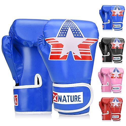 Boxhandschuhe für Training, Stanzen, Muay Thai, Sparring, Grappling, Kickboxen, Fokuspads, Boxsackhandschuhe, Kampfsport, Trainingshandschuhe | 4oz 6oz 8oz | für Kinder im Alter von 3 bis 16 Jahren