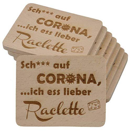 8 Stück Raclette Untersetzer mit Gravur