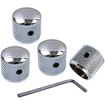 Guitar Pickup Covers Volume//Tone Control Knobs Switch Tip Chrome-Plated for H5P4