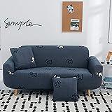 YHCJI Universelles All-Inclusive-Sofa-Set universal Single DREI-Bit einfache Moderne elastische Stoff Vollbezug Sofa Dreier 190-230cm Welpen