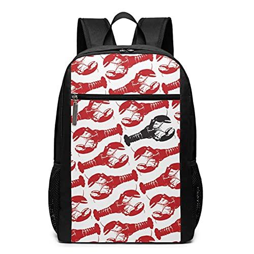 Bingyingne Zaino alla moda Travel Backpack for Women Men (17 Inch) Backpack for Girls boys Hiking Bookbag Suitable For Students Lightweight Laptop Backpack (Lobster Lobster Black Lobster)