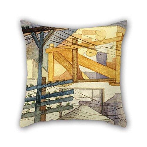 N\A Pintura al óleo Ferm Revueltas - Fundas de Cojines para Andamios al Aire Libre Adorno de Dos Lados y Regalo para Adolescentes Cine en casa Sala de Estar GF Oficina en casa