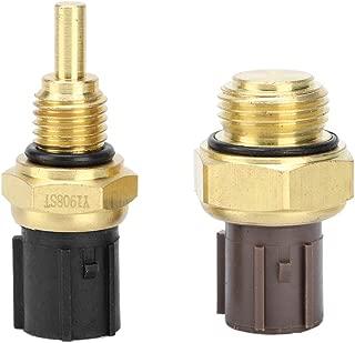 KIMISS Sensor de temperatura del refrigerante, transductor de temperatura del agua refrigerante 2 piezas 37870-PJ7-003