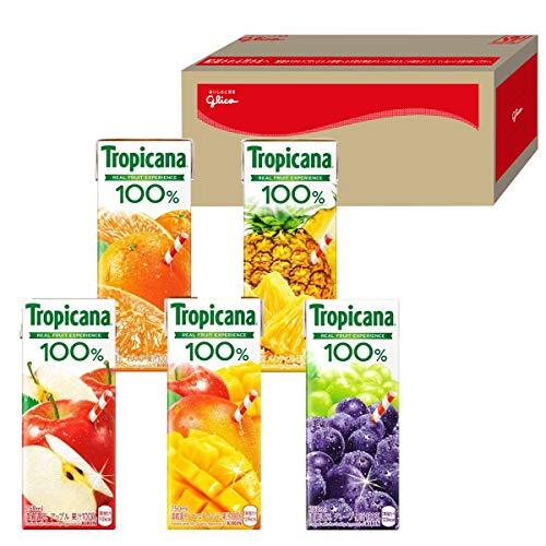 トロピカーナ 100% フルーツドリンクセレクション 30本 グリコボックス入り