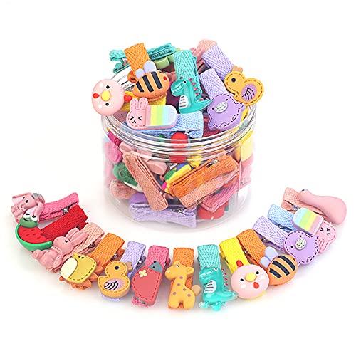 RoxNvm Mollette per capelli carino, Mollette a più colori,26 pezzi bella forcina in stile multiplo per neonate e bambini come regalo di compleanno, Natale e giorno dei bambini(Stile animale)
