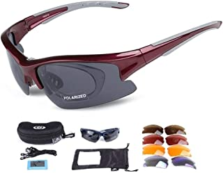 Wonzone Polarized Sports Sunglasses UV400 with 5 Interchangeable Lenes for Men Women Cycling Running Driving Fishing Golf Baseball MTB Glasses