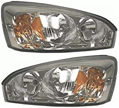 Headlight Assembly Compatible with 2004-2008 Chevrolet Malibu Halogen Composite Passenger and Driver Side