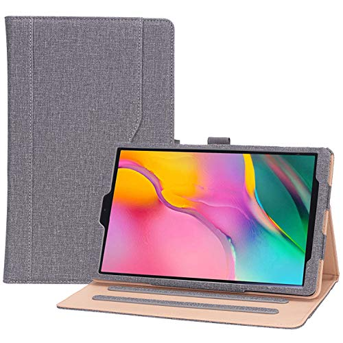 Procase Galaxy Tab A 10.1 Case 2019 Model T510 T515 T517 - Stand Folio Case Cover for Galaxy Tab A 10.1 Inch 2019 Tablet SM-T510 SM-T515 SM-T517 -Grey