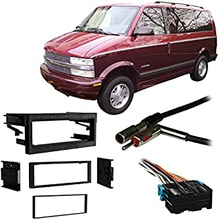Compatible with Chevy Astro Van 96-05 Single DIN Stereo Harness Radio Install Dash Kit