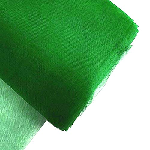 """Craft And Party, 54"""" by 40 Yards (120 ft) Fabric Tulle Bolt for Wedding and Decoration (Emeral Green)"""