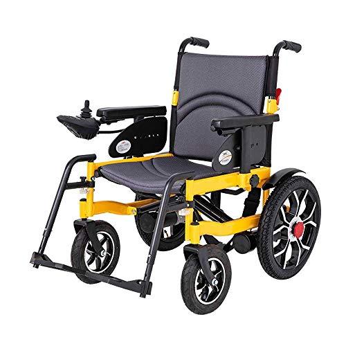SILOLA Elektrorollstuhl Allradroller zusammenklappbarer tragbarer Turbo-motorisierter Rollstuhl für Behinderte Ergonomisch geeignet für ältere Menschen und Reisende