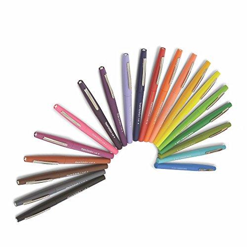 Paper Mate Flair Felt Tip Pens, Medium Point, Assorted Colors, with Women�s Closet Adult Coloring Book, 21-Piece Set
