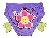 Schöne Sun-Blumen-Baby-Kind-Schwimmen Lila Windeln / Swim Brief, Größe S