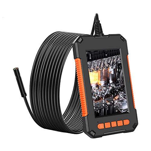 KKmoon Tragbares Hand-Industrieendoskop Wasserdichtes 8-mm-Objektiv LCD-Bildschirm HD Videoinspektion USB Endoskop mit Dimmbares LED-Licht Haken Magnet Seitenspiegel Wiederaufladbar -flexible Kabel 2M